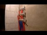 монтаж труб рехау,баня, теплый пол, весь процесс работы и готовый результат