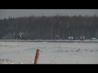 Прибытие в Карелию звена новейших истребителей Су-35