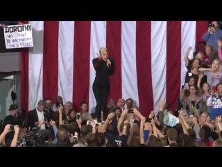 Lady Gaga performs at Hillary Clinton's Rally in North Carol-1