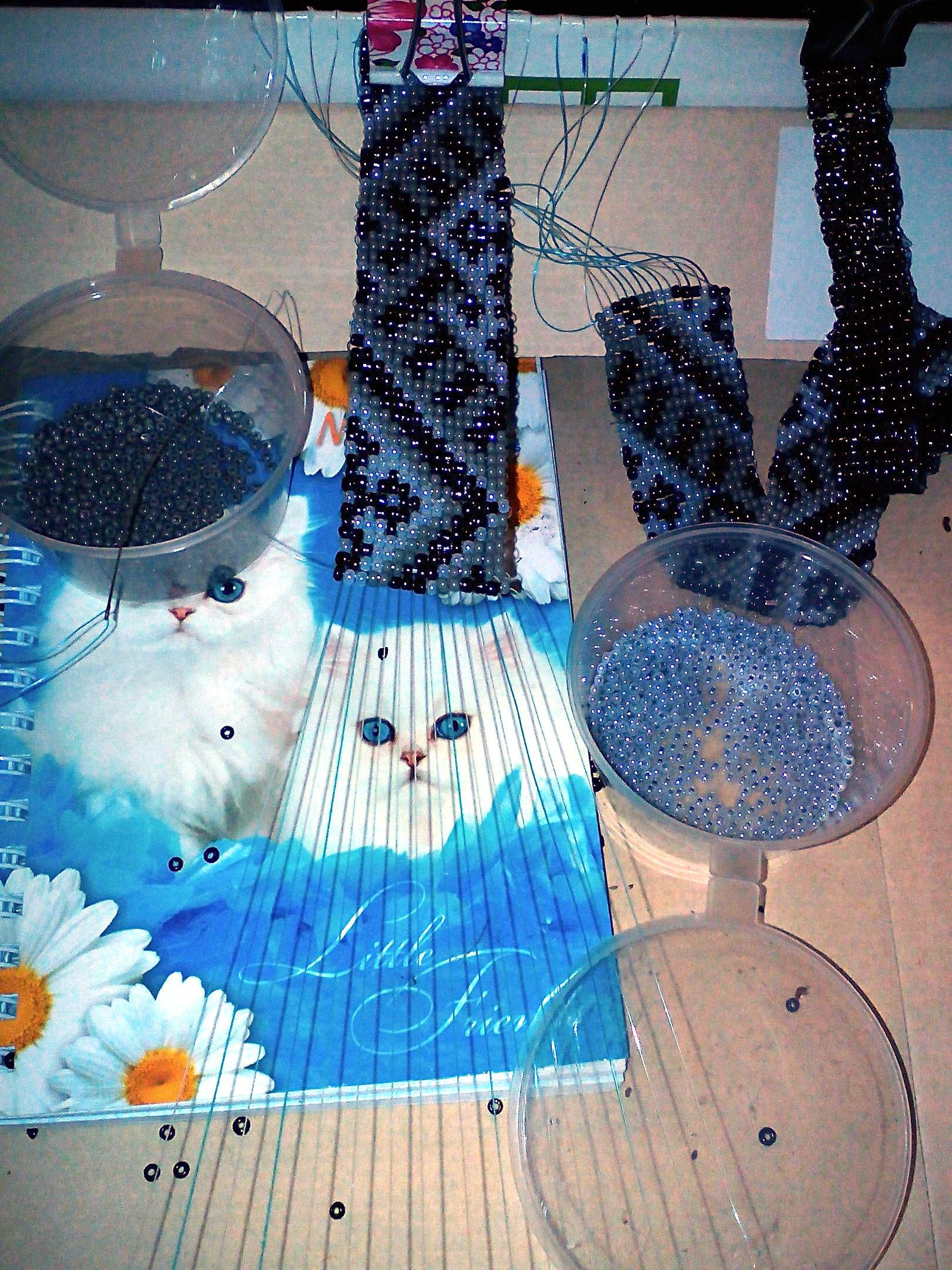 станок, станок для плетения, плетение бисером, гайтан, гердан, украшение, ожерелье, колье, бисер, плетение
