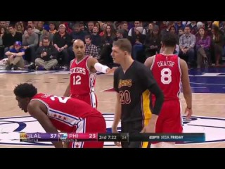 Timofey Mozgov Highlights [Philadelphia 76ers vs Los Angeles Lakers | 17.12.2016]