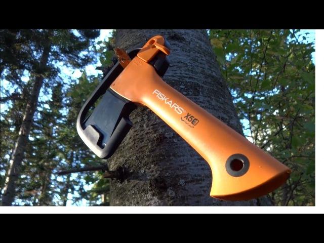Топор Fiskars X5 ,обзор тест