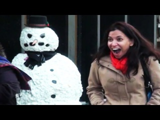 Scary Snowman Is A Savage *GONE VIRAL* Crazy Boston Reactions