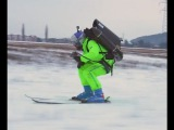 Red Bull jetpack skiing video commercial - AMAZING!