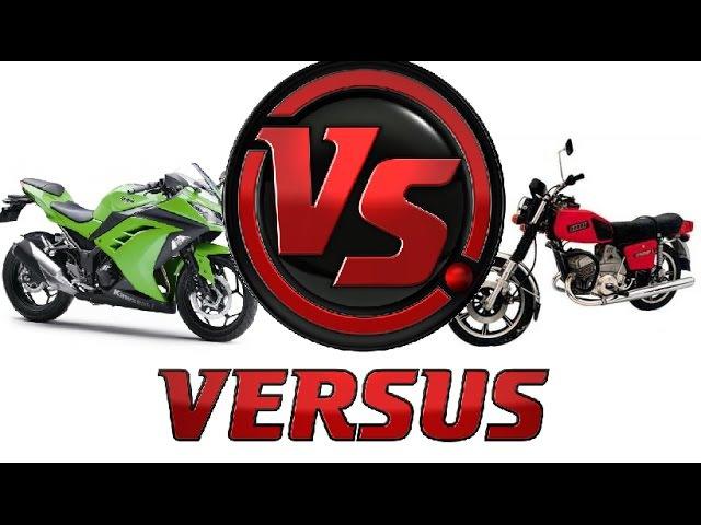 Мотоцикл Иж Юпитер 5 против Kawasaki ninja