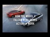 How the Tesla Model X Falcon Wing Doors Work