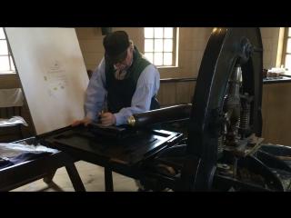 19th century printing machine