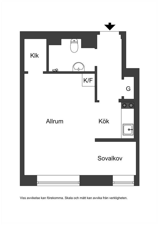 Квартира-студия 30 м.