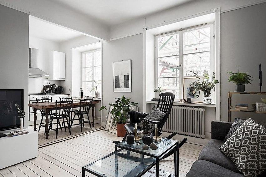 Интерьер квартиры-студии 42 м.