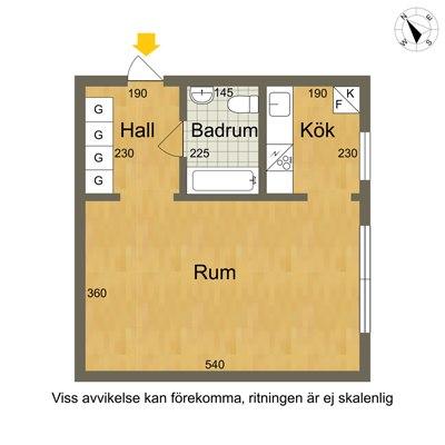 Квартира-студия 32,5 м.