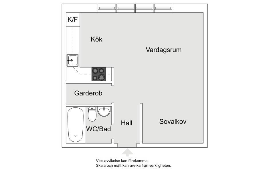 Квартира-студия 32 м.