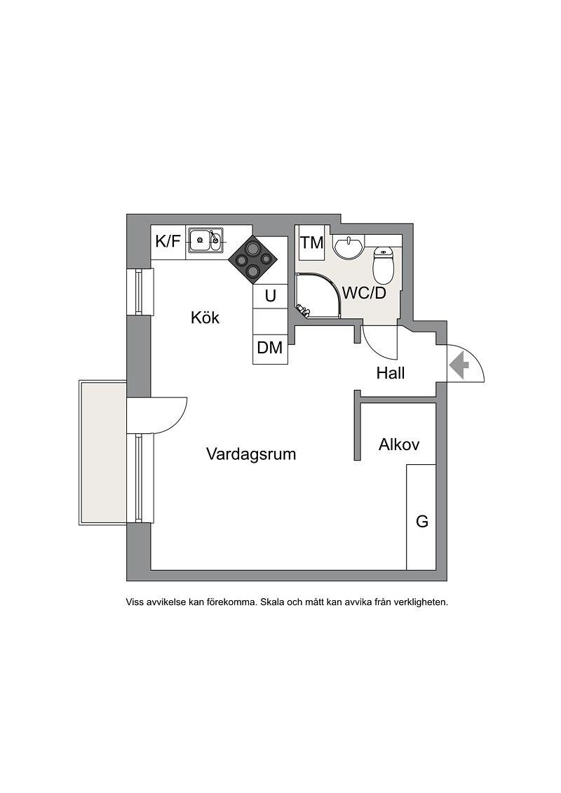 Квартира-студия 28 м.