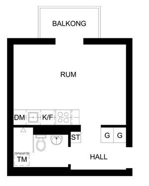 Небольшая квартира-студия 23,5 м.