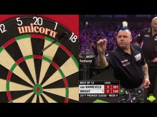 2017 Betway Premier League darts Raymond van Barneveld v Peter Wright - Week 4