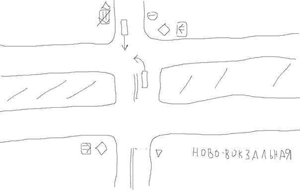 Самара перекрёсток ново-вокзальная / свободы какая из машин должна про