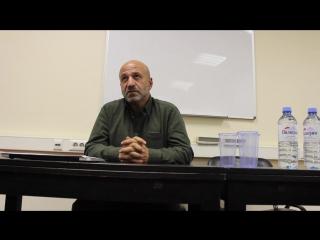 Анонс лекции В. Вартанова в Москве