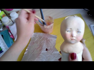 Быстрый способ состарить куклу/ How to make your doll look vintage