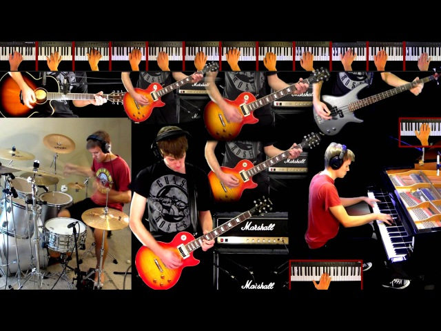 November Rain Guns N' Roses Guitar Solo Bass Strings Piano Drum Cover