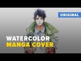Dzikawa - Watercolor manga cover (Nameless Hero) Speedpaint