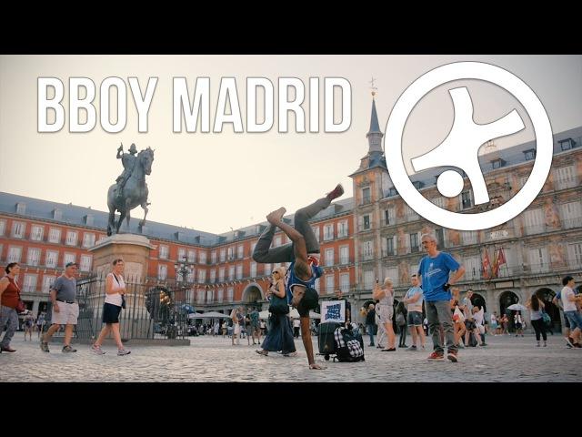 Bboy Street Performance Hitting in Madrid, Spain w/ Kaos Choco (Umami Dance Theater) | STRIFE
