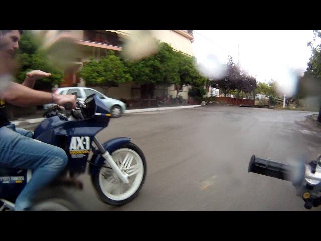 AX1 - Honda c50 Having Fun on a Rainy Day Part 1