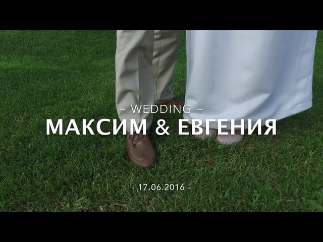 Wedding Evgeniya Maksim 17.06.2016