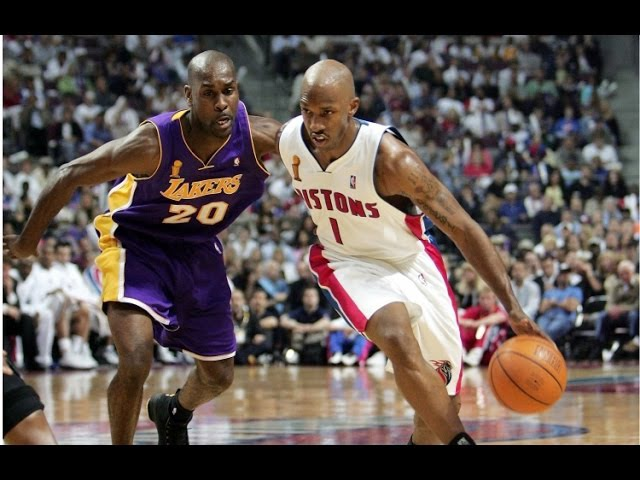 Detroit Pistons vs Los Angeles Lakers final 2004 game 4 (на рус)