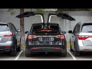 Tesla Model X. Первый обзор и тест-драйв (2016). Tesla Model X на русском.
