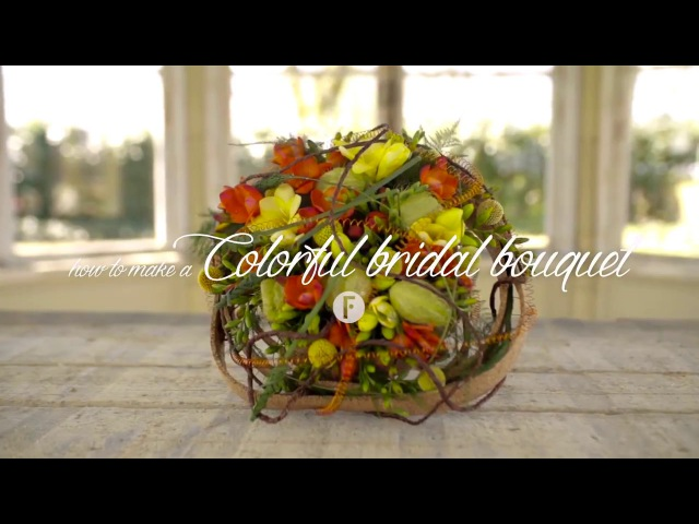 Свадебный необычный букет от Пима ван ден Аккера. Мастер-класс