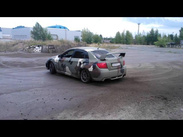 Дрифт Subaru Impreza в Школе экстремального вождения Карбон www.carbon.co.ua