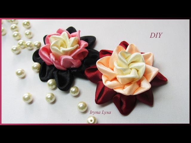 Цветок Из Ленты 5 См, МК, Канзаши