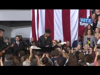 Lady Gaga - Bad Romance (Live @ Hillary Clinton's Rally in North Carolina)