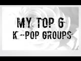 My Top k-pop male groups 2017