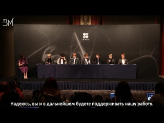 [RUS SUB][10.10.16] BTS @ WINGS Release Press Conference