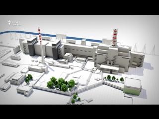 3d-анімацыя аварыі на чарнобыльскай аэс - 3d-анимация катастрофы на чаэс 26-04-1986