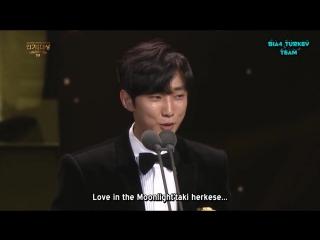161231 KBS Drama Award - Jinyoung En İyi Yeni Oyuncu Ödülü Konuşması (Türkçe Altyazılı)