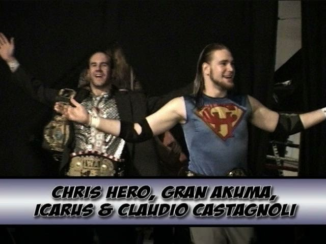FREE MATCH: w/ Chris Hero, Mike Quackensbush, Cesaro (Claudio Castagnoli) Skayde
