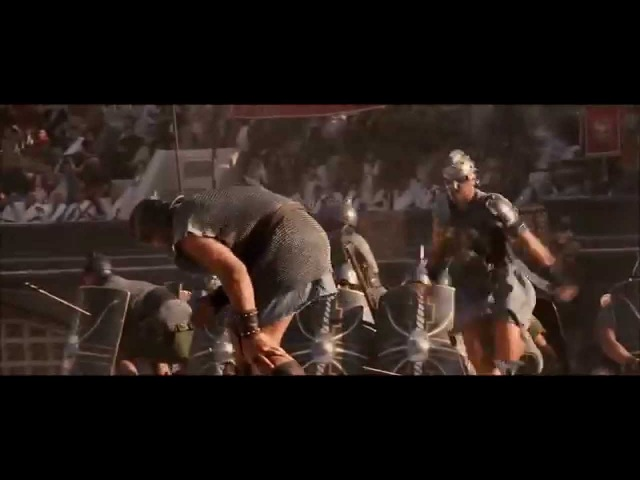 Gladiator Barbarian Horde Battle Scene (HD)
