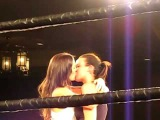 Andrea Ellis making out with Erika after losing the fight....