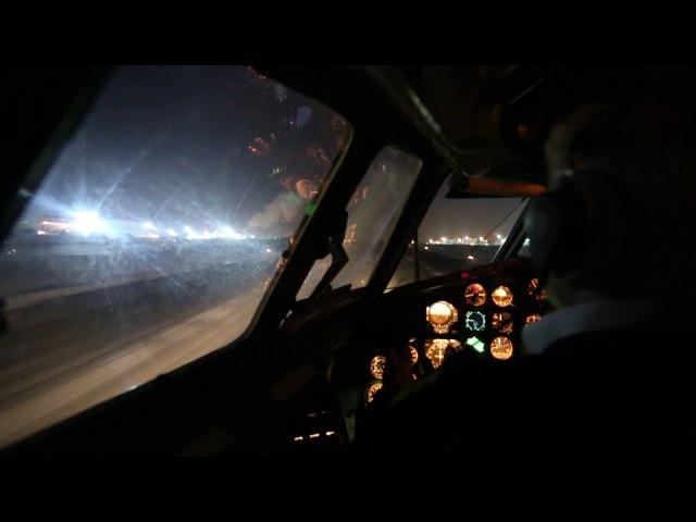 Взлет Ту-154 из Внуково / Tupolev Tu-154m Take off from UUWW (Cockpit view)