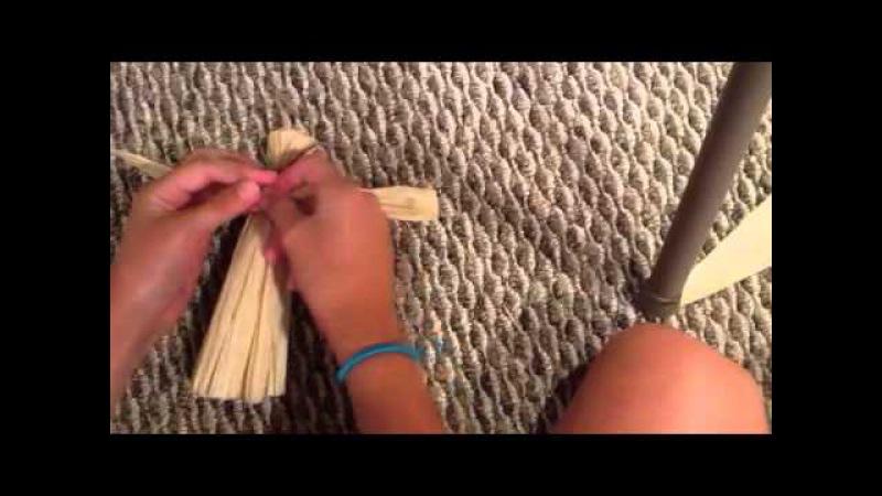 How to make corn husk doll