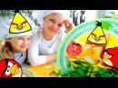 Лучшие Подружки Настя и Ксюша! ЭНГРИ БЕРДЗ - Супер бутерброды. Игры еда Злые Птички! Видео рецепты