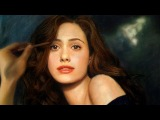 Drawing Emmy Rossum - Color Pastel Portrait Time-lapse Art Drawing Video
