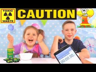Токсик Вейст челлендж TOXIC WASTE CHALLENGE Токсичные отходы или самые кислые конфеты пробуем.