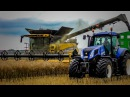 6x NEW HOLLAND | XXXL RAPE HARVEST 2016 | 2x NH CR9.90 | 2x HAWE ÜLW | 4x NH ABFAHRER | DE Tour 2016