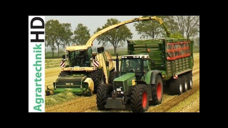 KRONE BiG X 1100 | FENDT John Deere Traktoren häckseln Grünroggen | Silage | AgrartechnikHD
