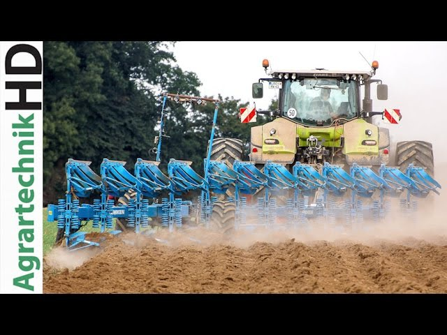 Claas Axion Traktor | Lemken 12 Schar Pflug | Ploughing