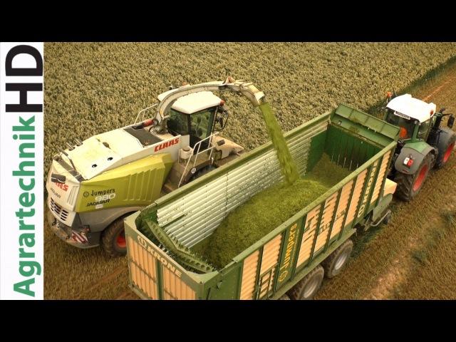 CLAAS JAGUAR 980 | Fendt Traktoren im Einsatz - Grünroggen Häckseln