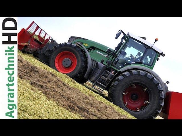 JOHN DEERE FENDT VALTRA Traktoren häckseln Mais für Biogasanlage