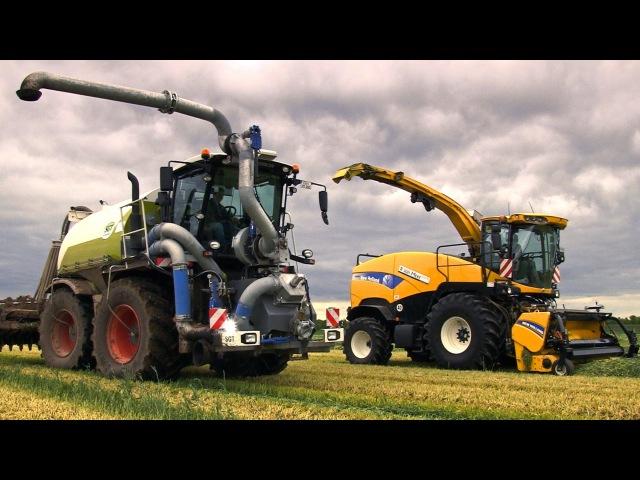 NEW HOLLAND FR9090 | Claas Xerion SGT | Grünroggen häckseln | Fendt Traktoren | AgrartechnikHD